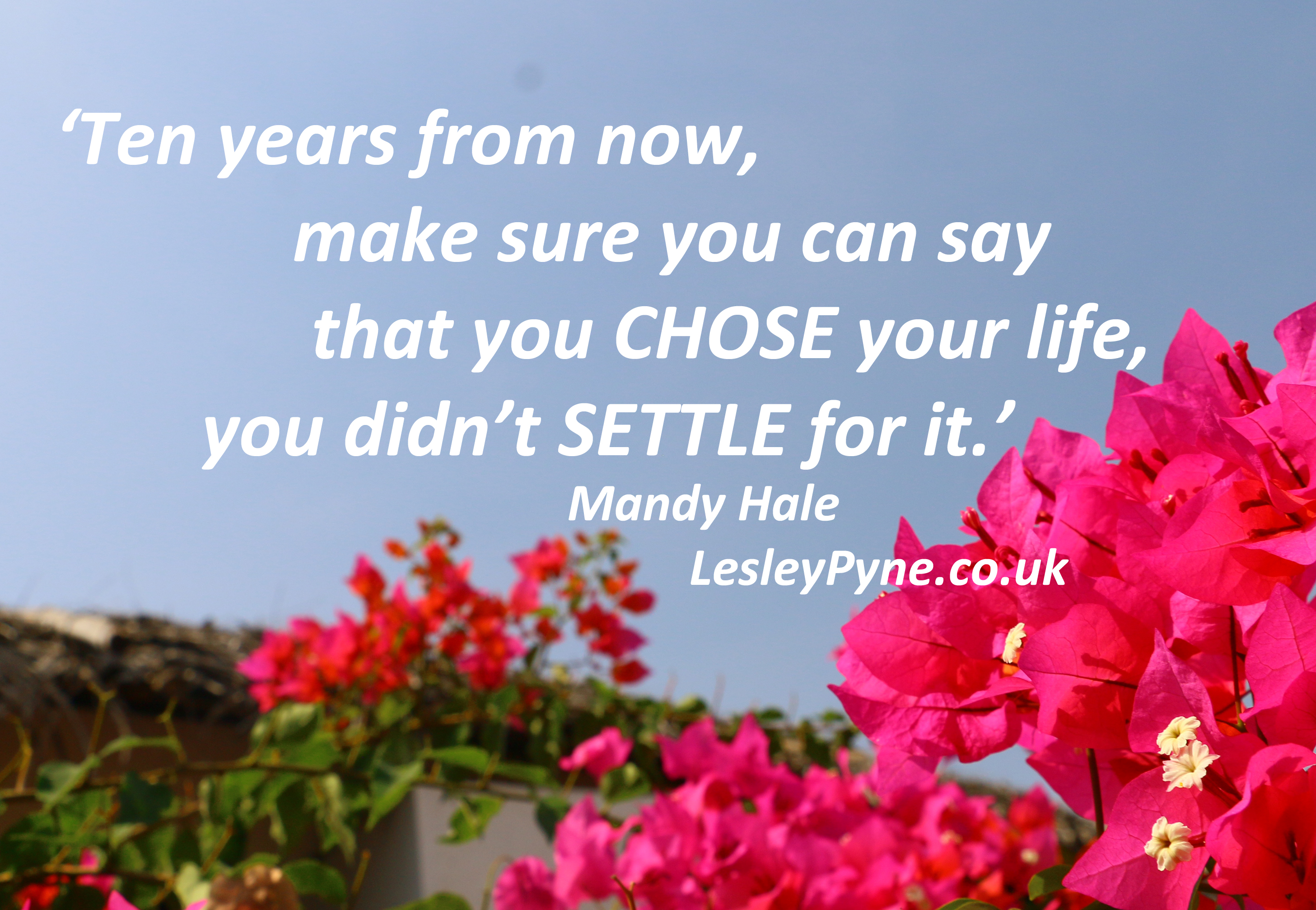 What are you settling for?